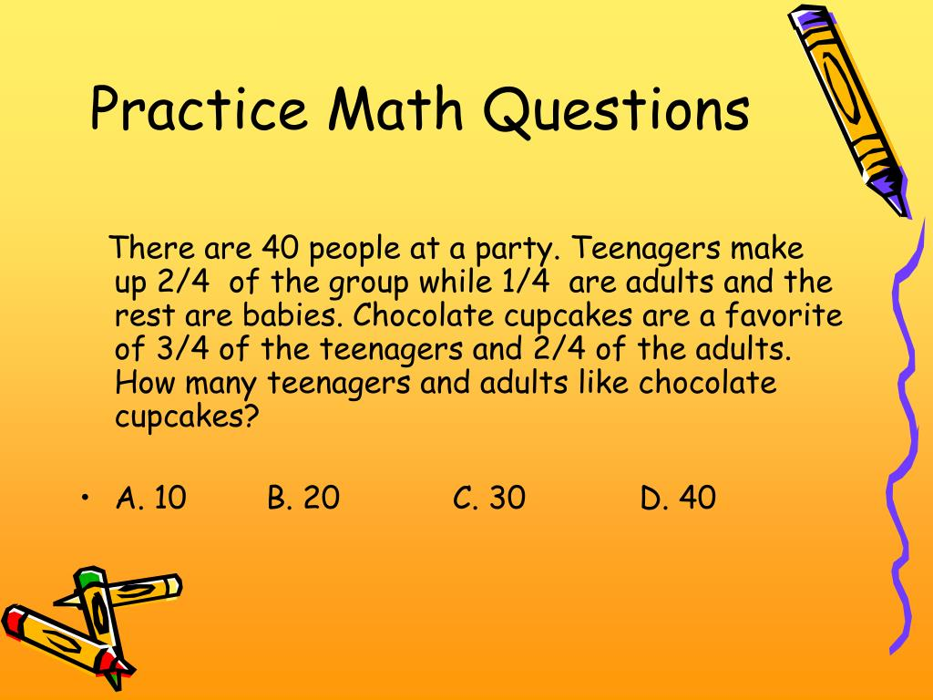 Practice Math Questions