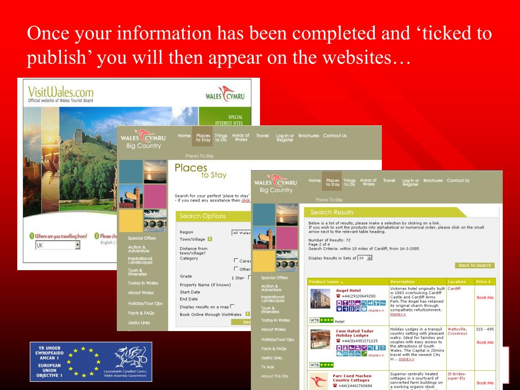 Once your information has been completed and 'ticked to publish' you will then appear on the websites…