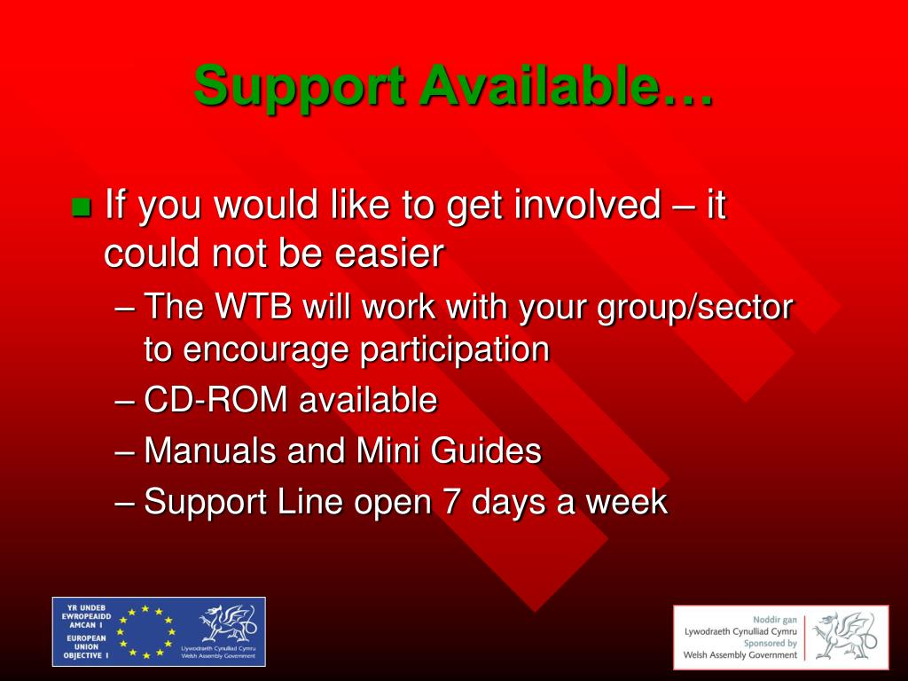 Support Available…
