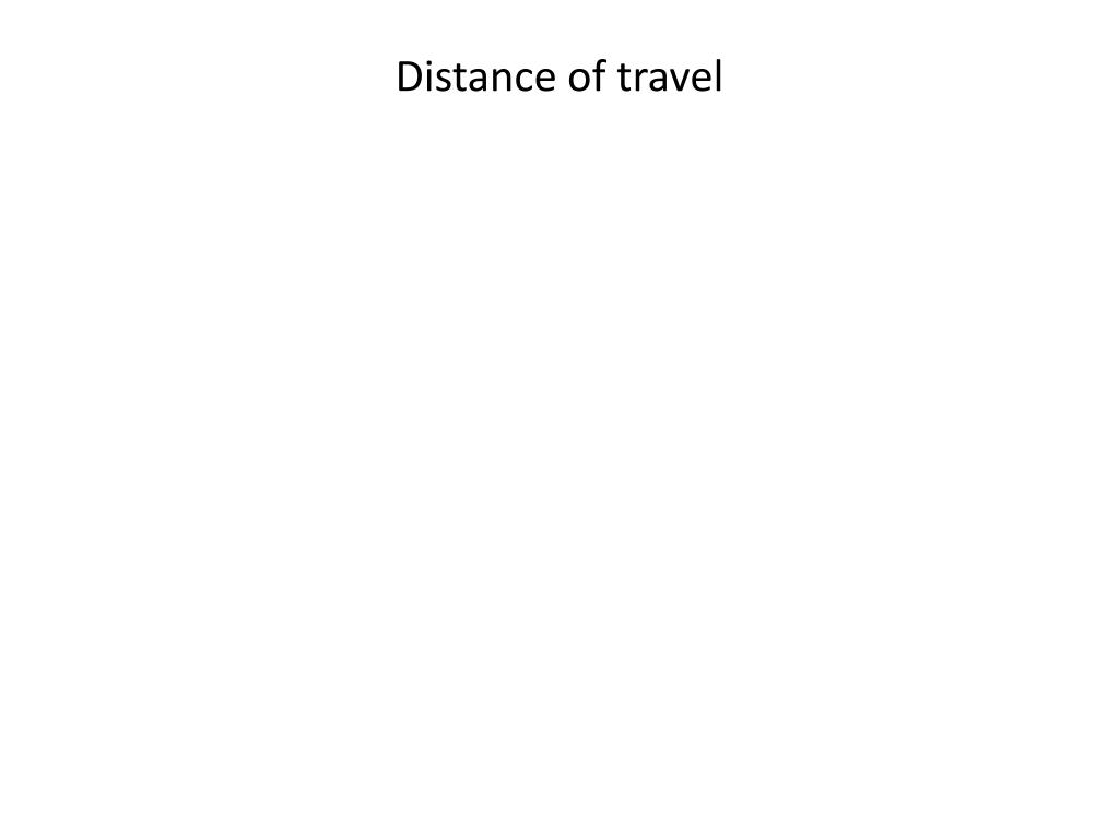 Distance of travel