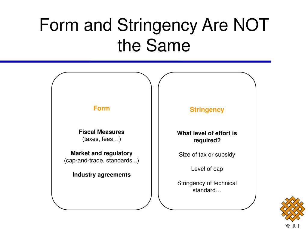 Form and Stringency Are NOT the Same