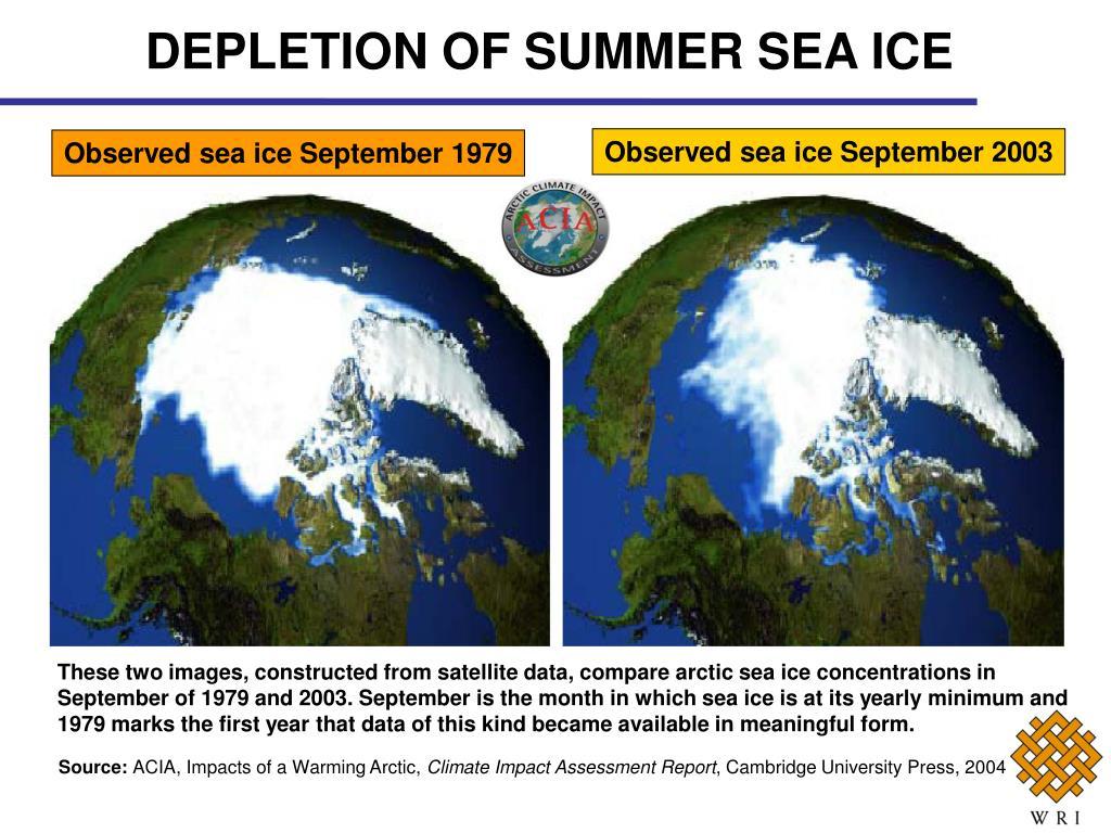 DEPLETION OF SUMMER SEA ICE