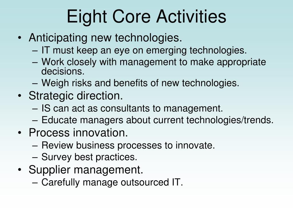 Eight Core Activities