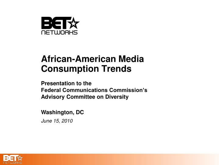 African american media consumption trends