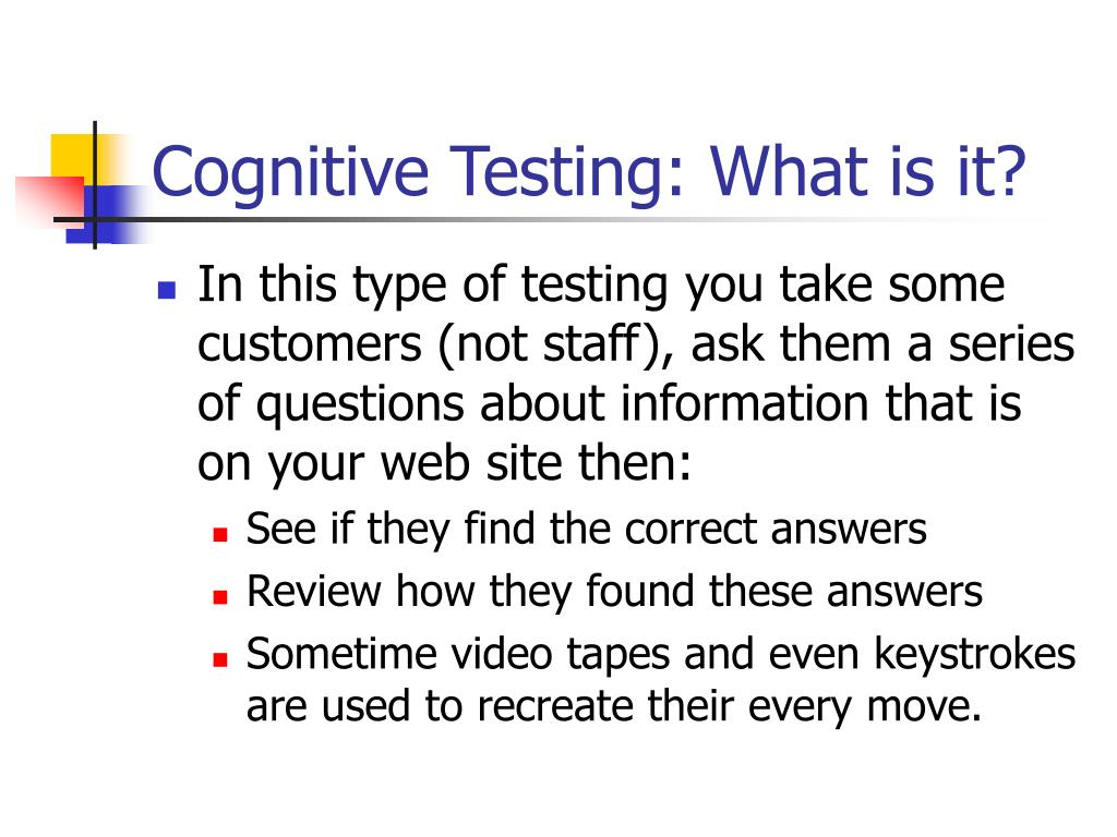 Cognitive Testing: What is it?
