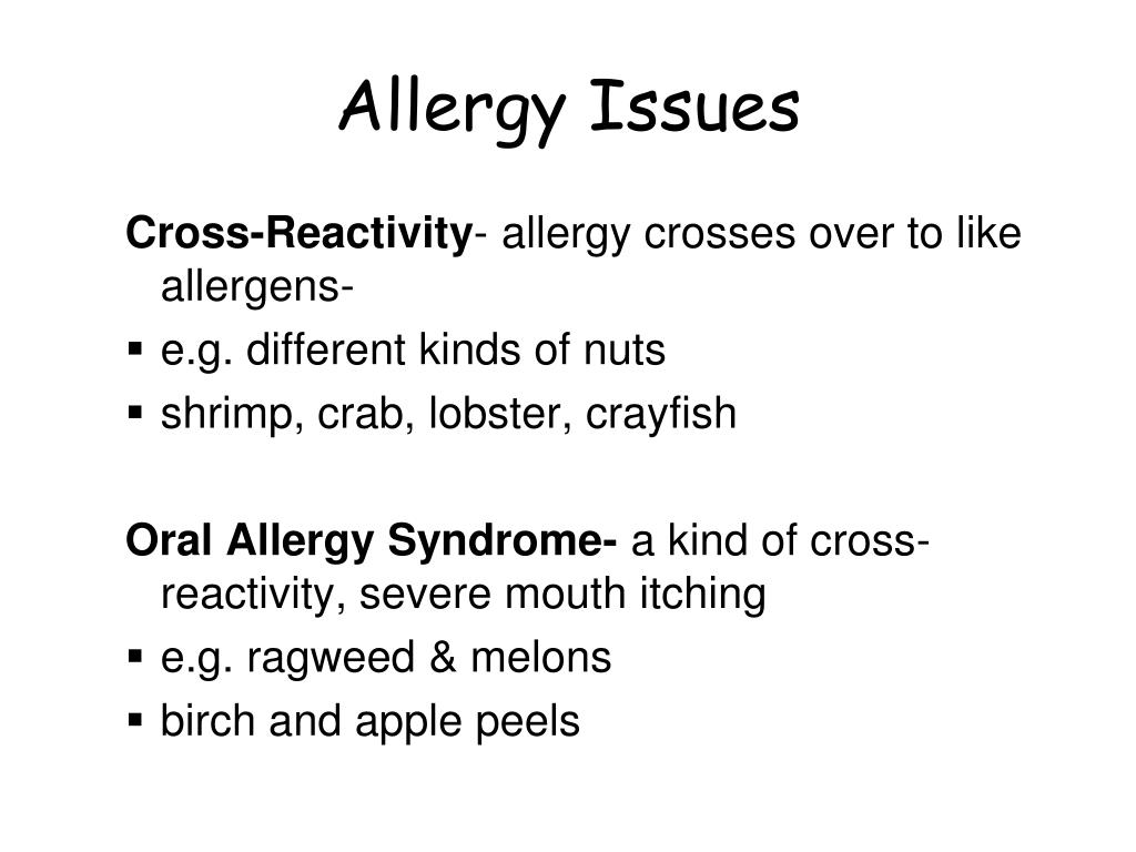 Allergy Issues