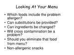 looking at your menu