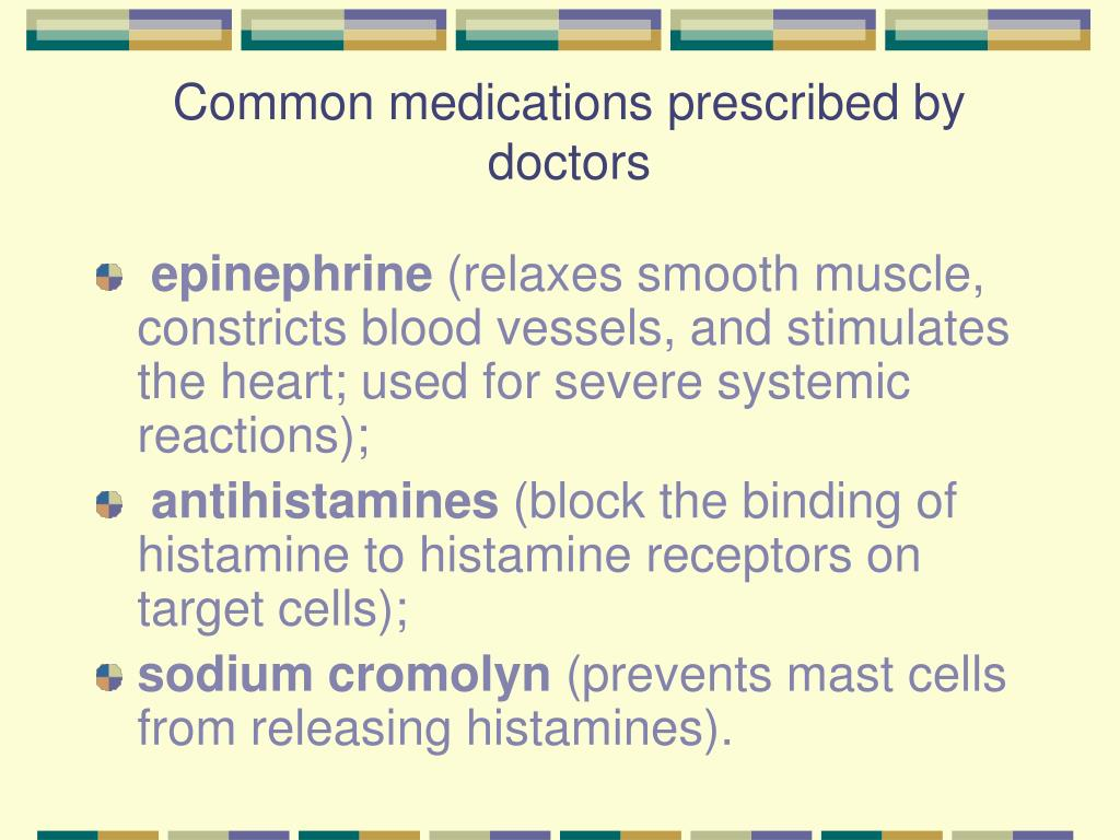 Common medications prescribed by doctors