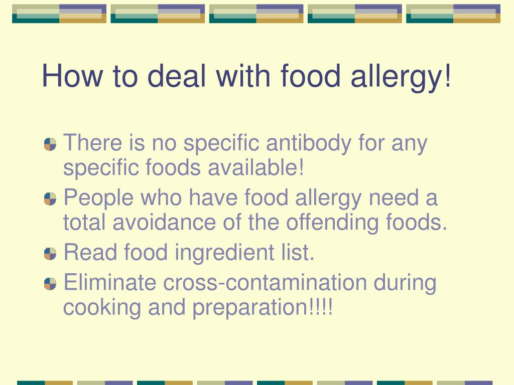How to deal with food allergy!