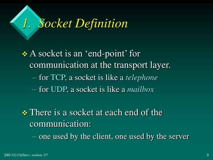 1 socket definition