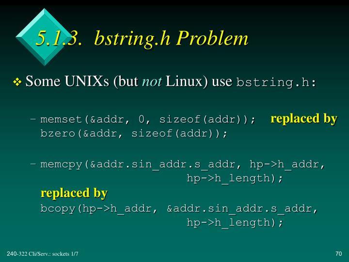 5.1.3.  bstring.h Problem