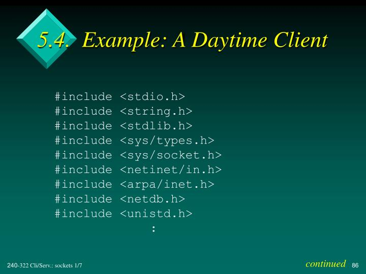 5.4.  Example: A Daytime Client