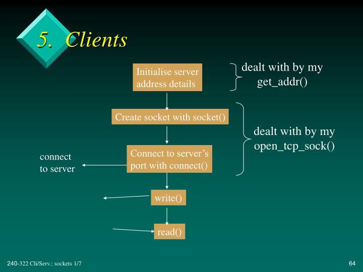 5.  Clients