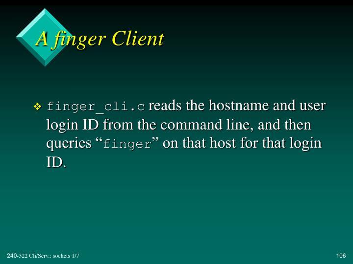A finger Client