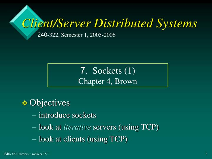 Client server distributed systems