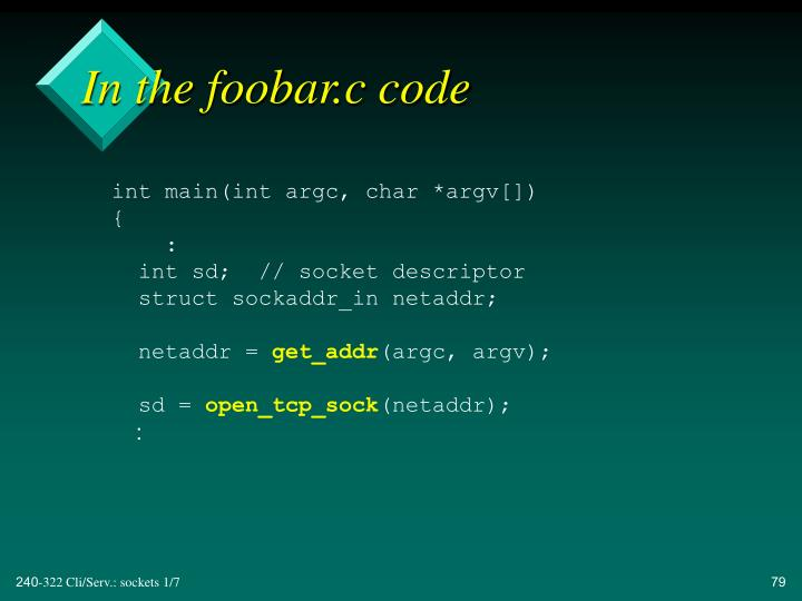 In the foobar.c code