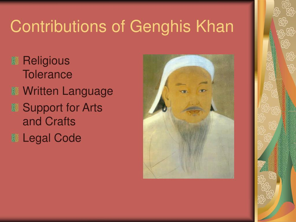 Contributions of Genghis Khan