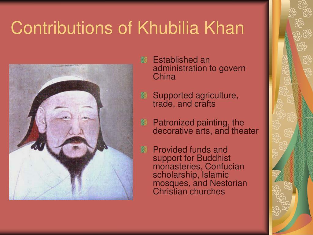 Contributions of Khubilia Khan