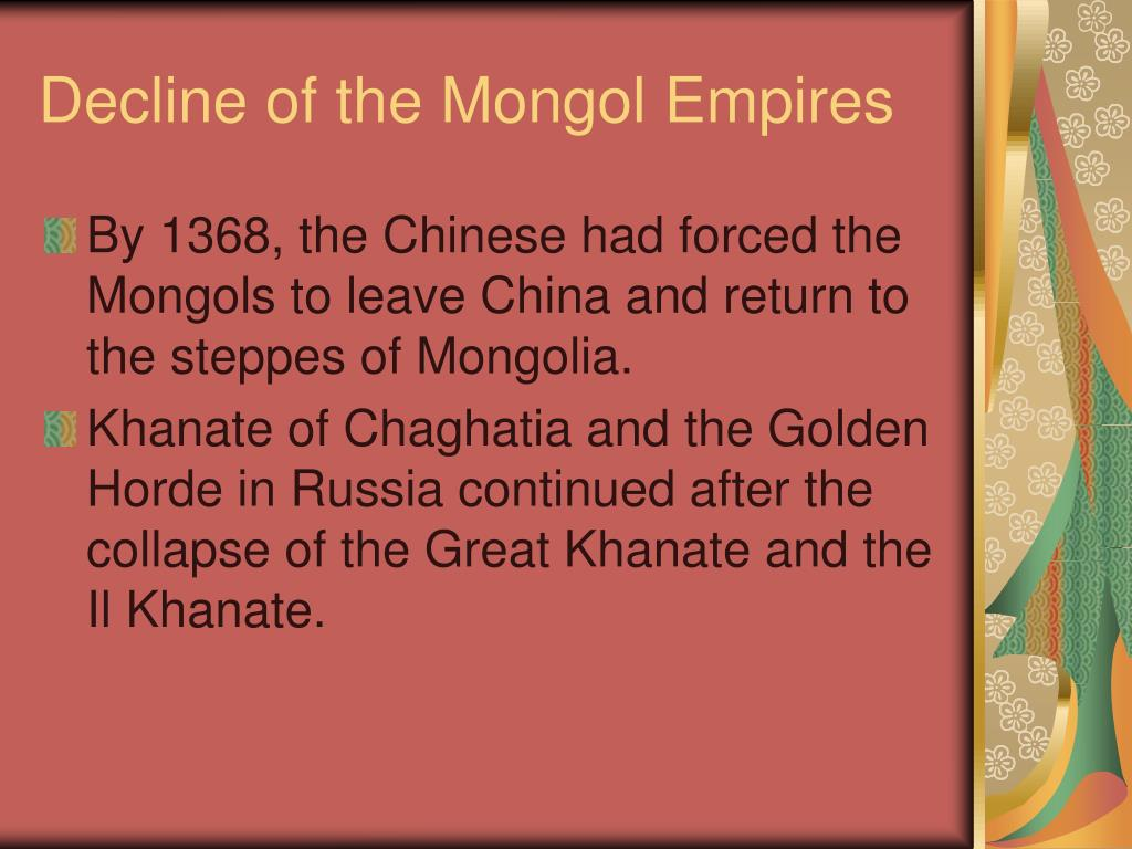Decline of the Mongol Empires