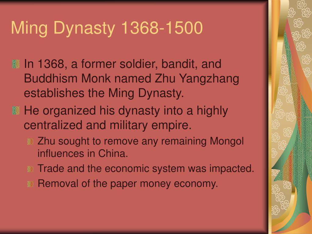Ming Dynasty 1368-1500