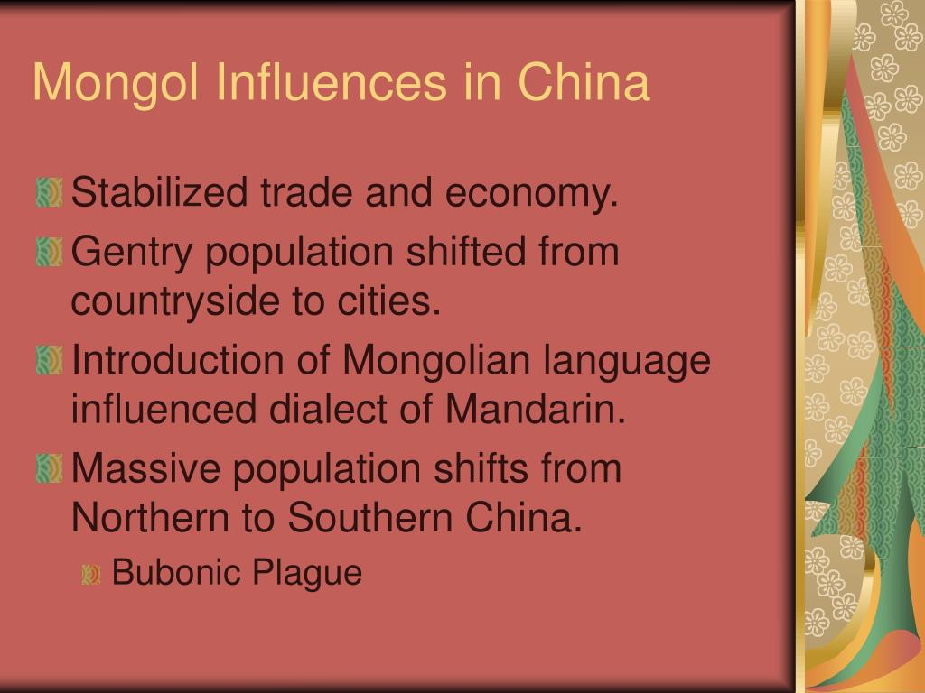 Mongol Influences in China
