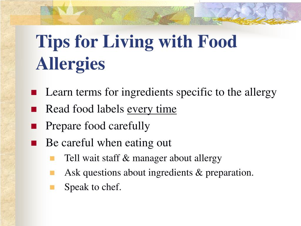 Tips for Living with Food Allergies