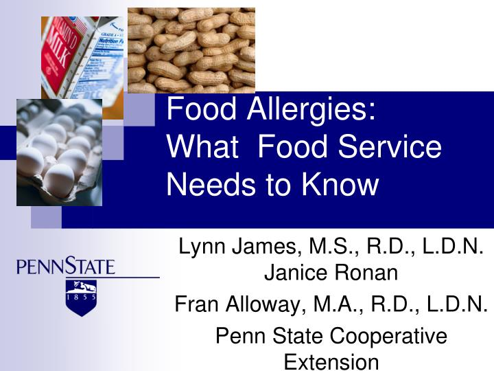 Food allergies what food service needs to know