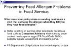 preventing food allergen problems in food service31