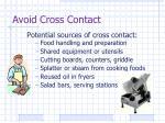 avoid cross contact