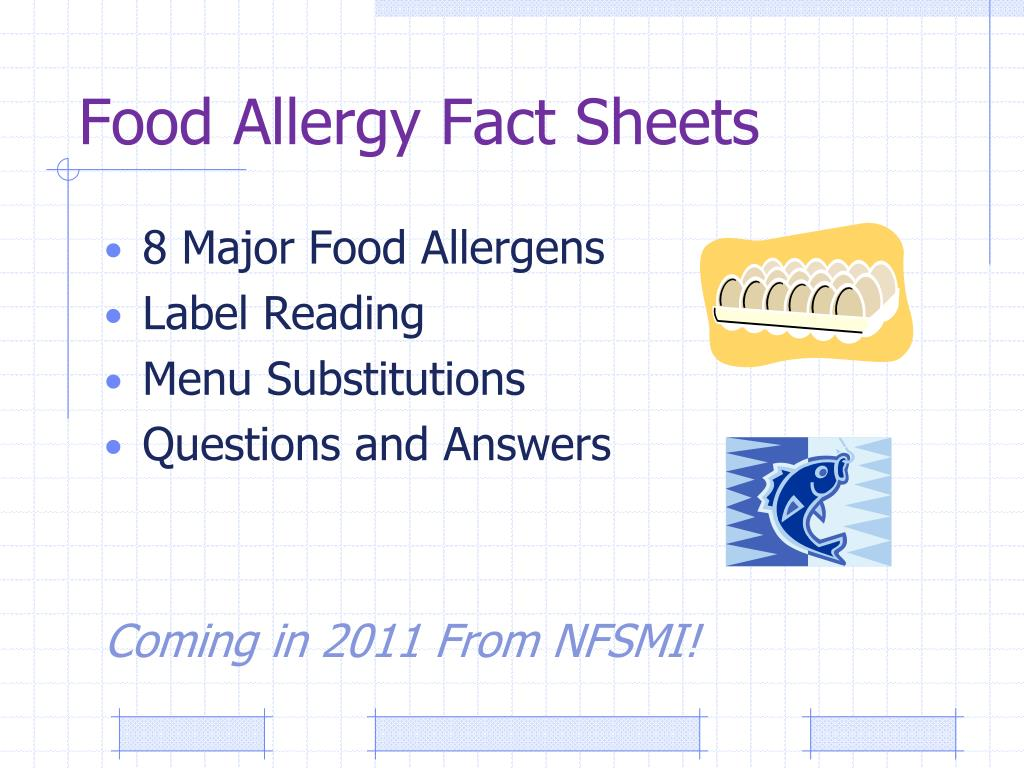 Food Allergy Fact Sheets