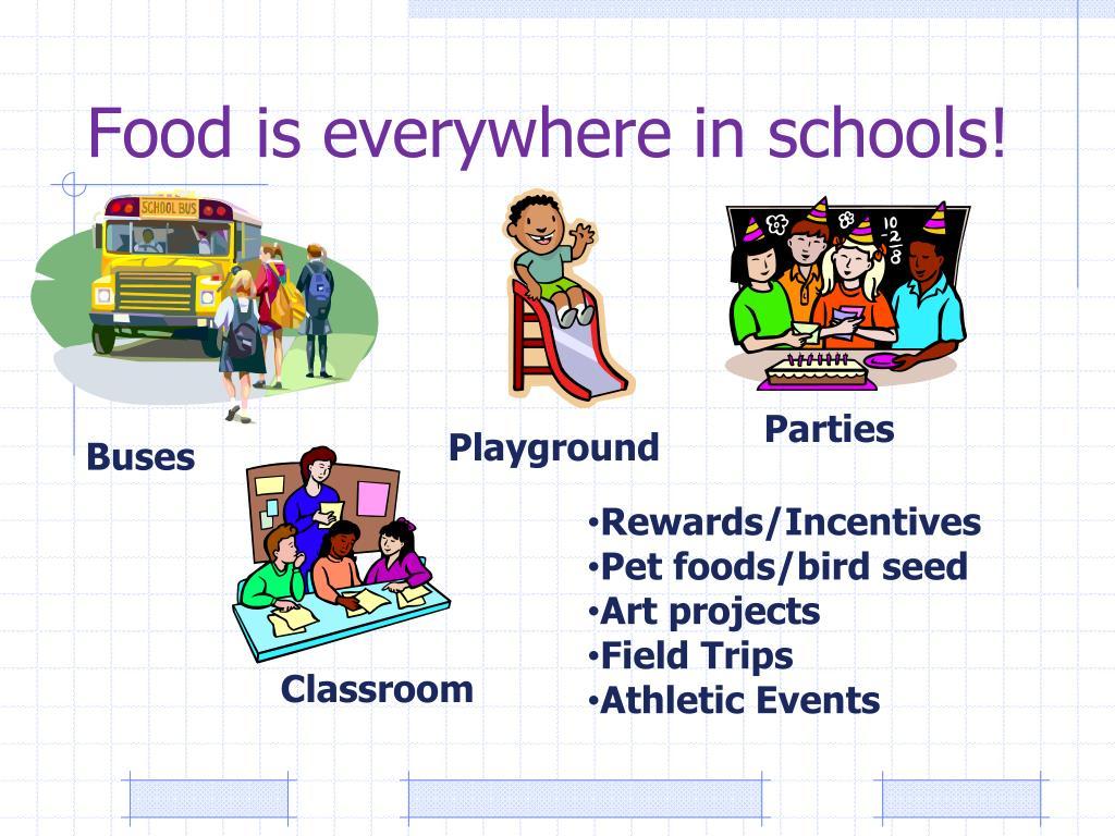 Food is everywhere in schools!