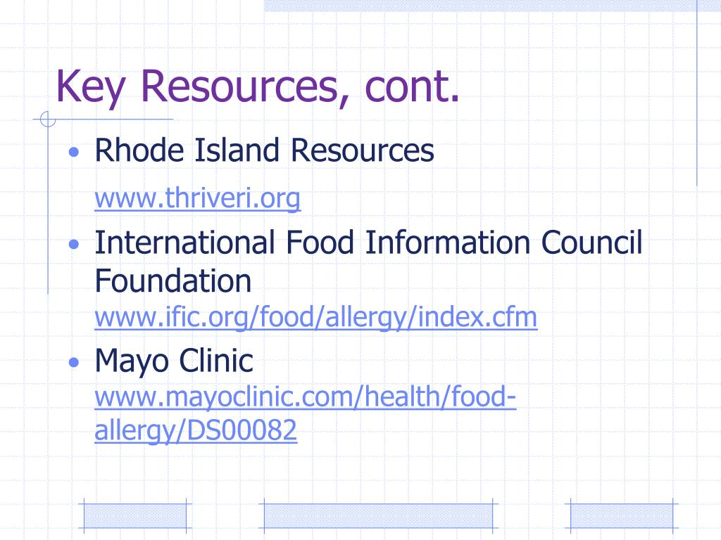 Key Resources, cont.