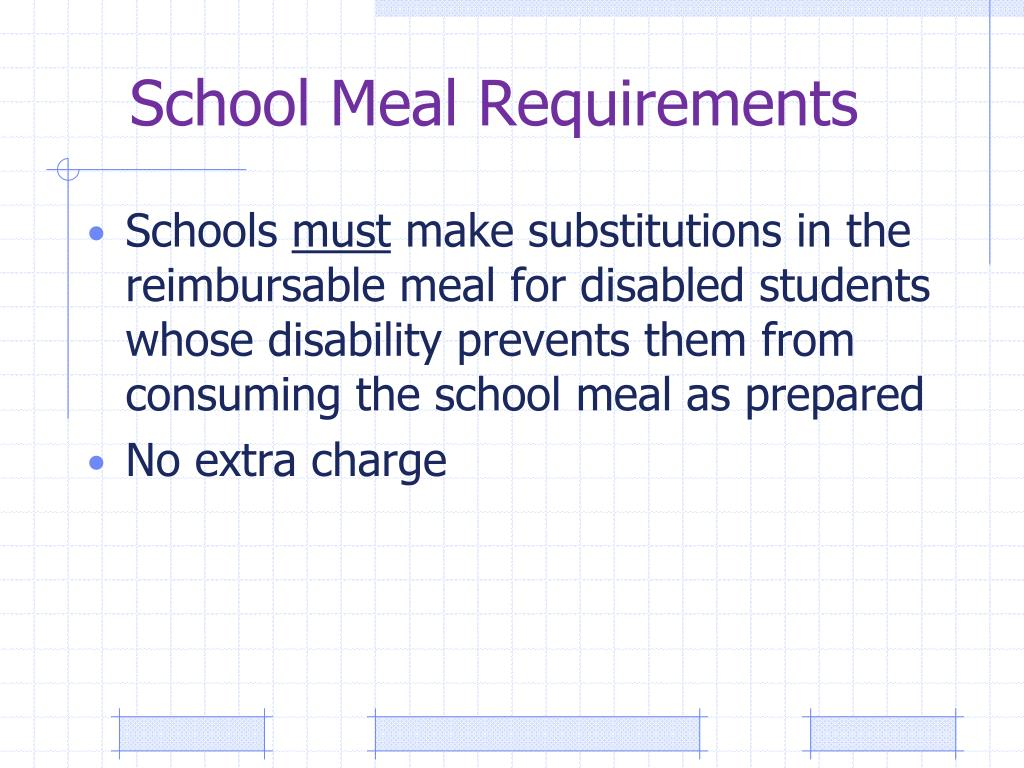 School Meal Requirements