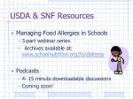 usda snf resources