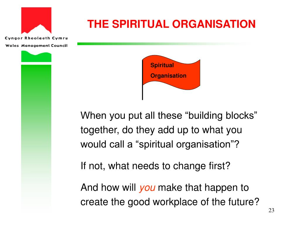 THE SPIRITUAL ORGANISATION