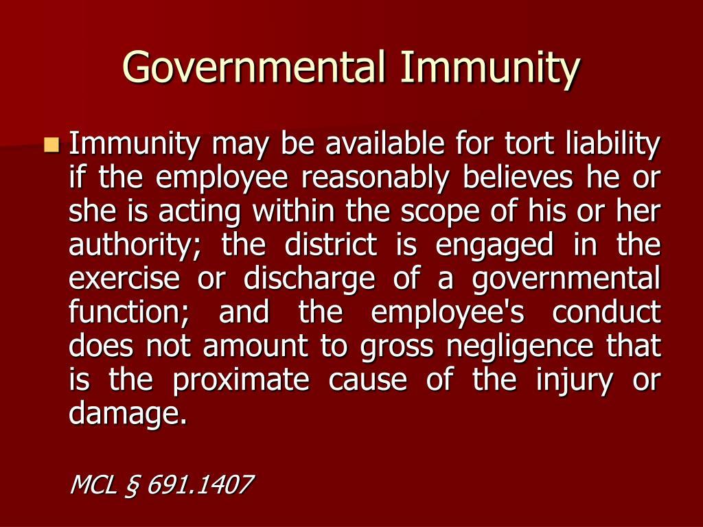 Governmental Immunity