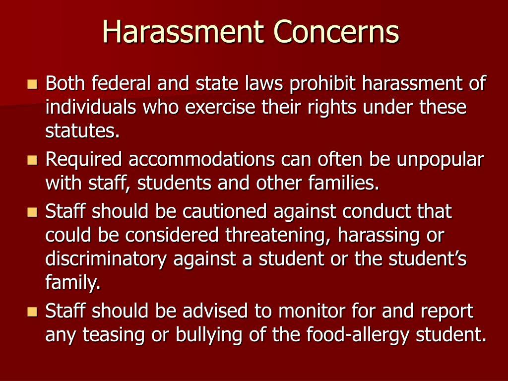 Harassment Concerns