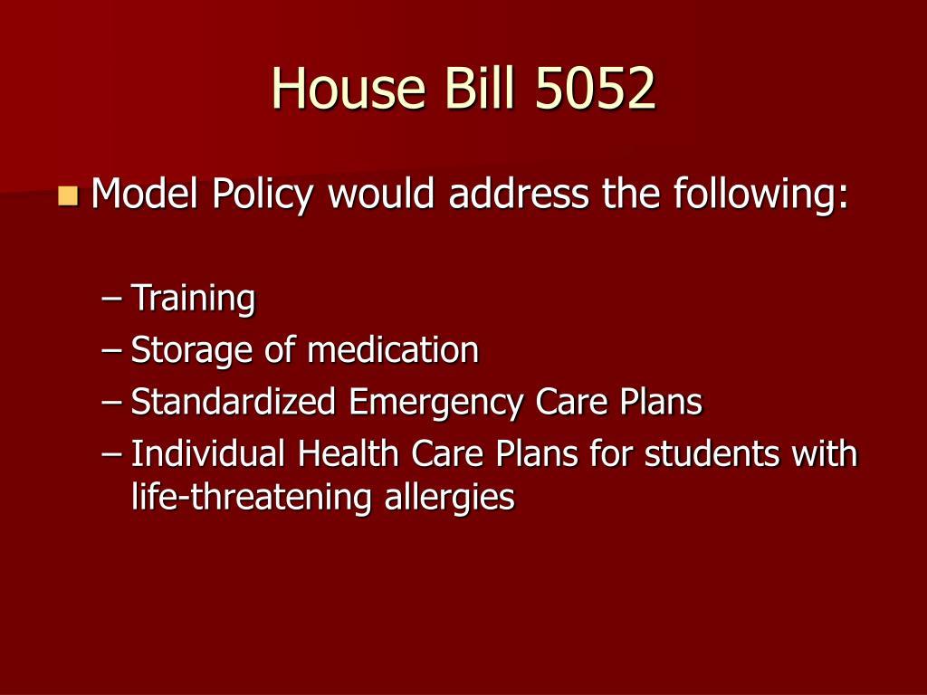House Bill 5052