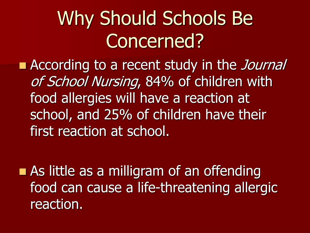 Why Should Schools Be Concerned?