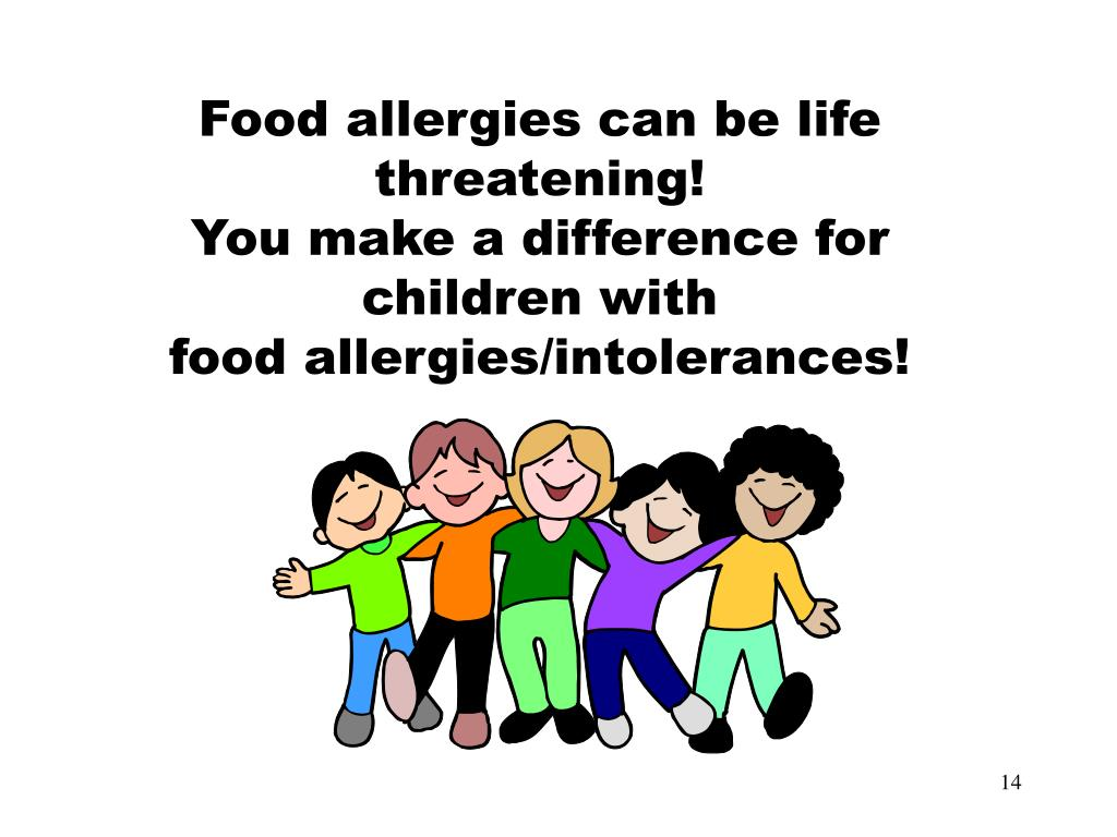 Food allergies can be life threatening!