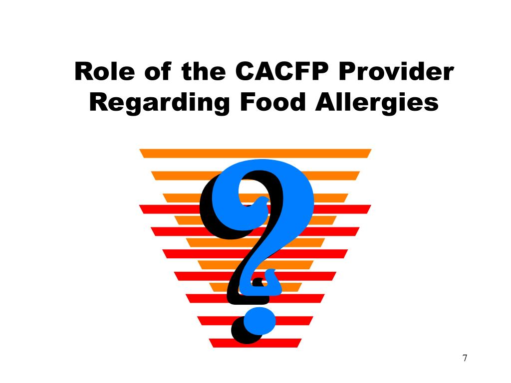 Role of the CACFP Provider