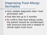 diagnosing food allergy dermatitis