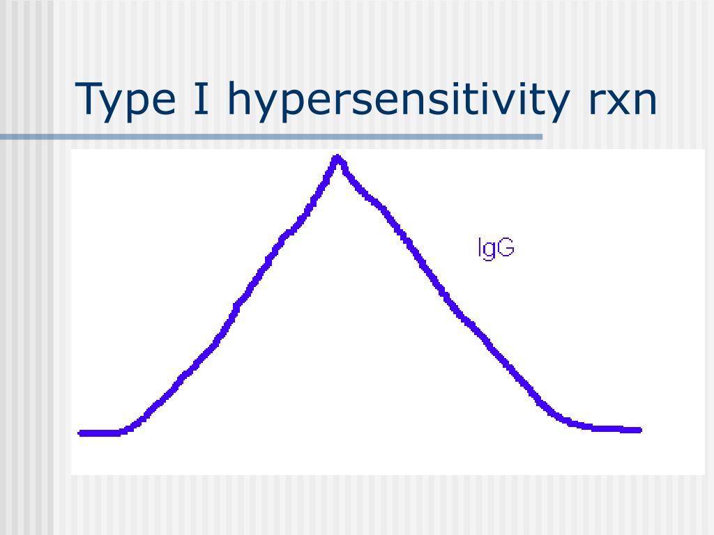 Type I hypersensitivity rxn