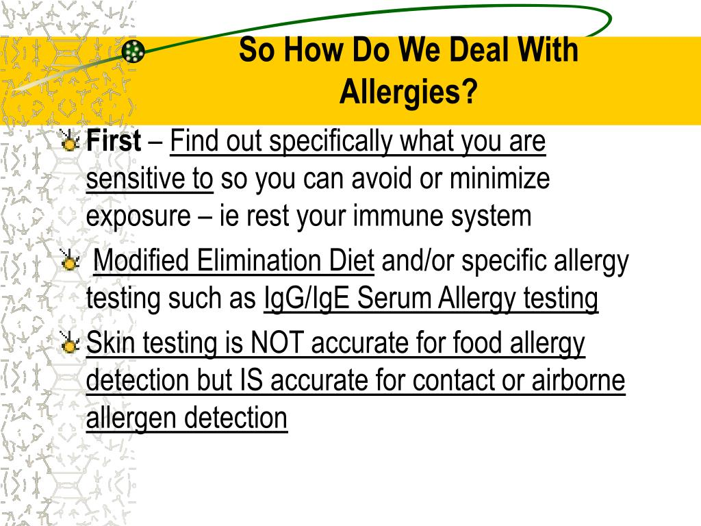 So How Do We Deal With Allergies?