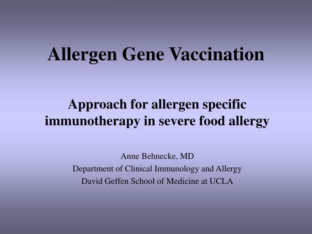 Allergen Gene Vaccination