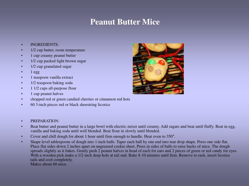Peanut Butter Mice