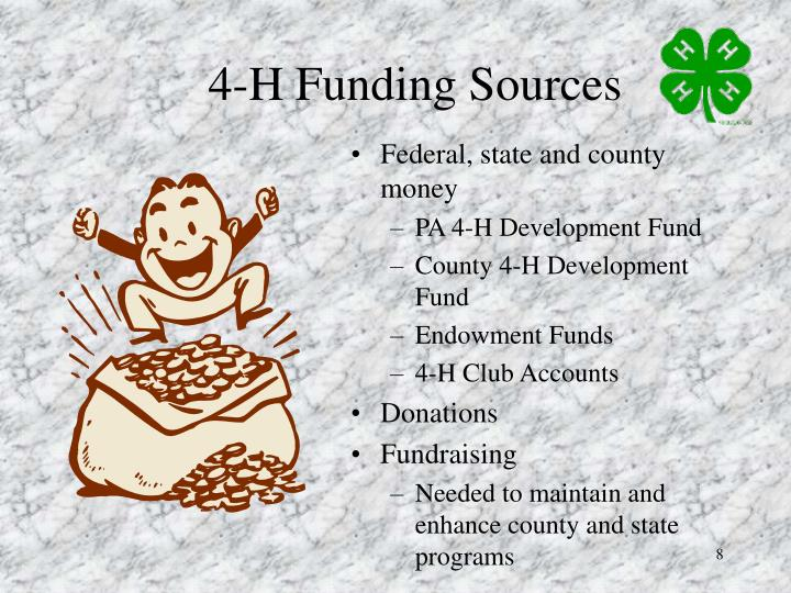 4-H Funding Sources
