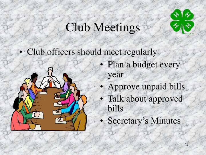 Club Meetings