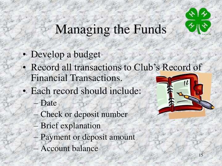 Managing the Funds