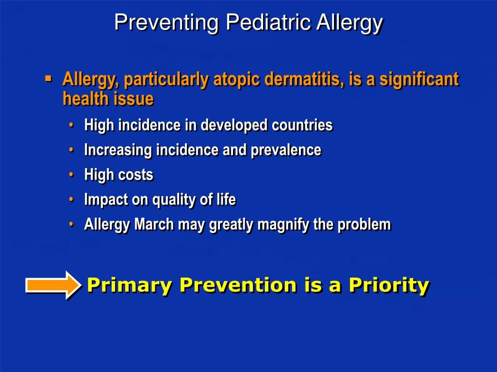 Preventing Pediatric Allergy